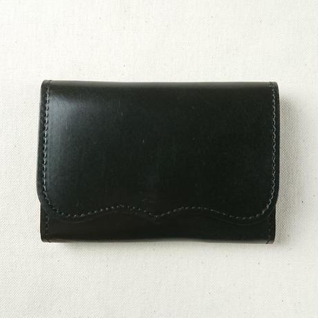 Kc's / ケーシーズ 栃木レザー カードケース プレート2 black [KCC002C]