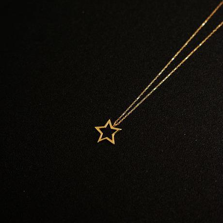 ゴールドネックレス スターフレーム 星型 K18