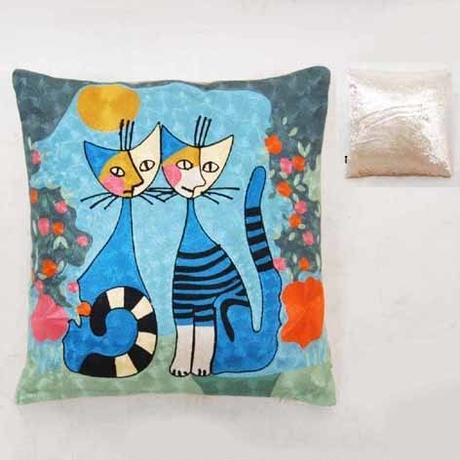 刺繍クッション(45×45) ロジーナ「ロマンス」 商品番号:is1087-rc-42