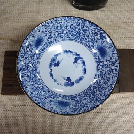 古伊万里唐草大鉢 美濃焼 25.5x7.5cm 商品番号:bl-6287161