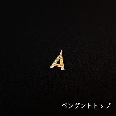 ゴールドペンダントトップ アルファベット K18 ダイヤ