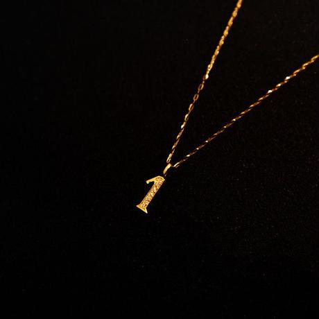 ゴールドネックレス ナンバー K18 ダイヤ