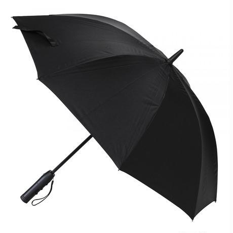 扇風機付き日傘 晴雨兼用 60cm 扇風機日傘【ブラック】