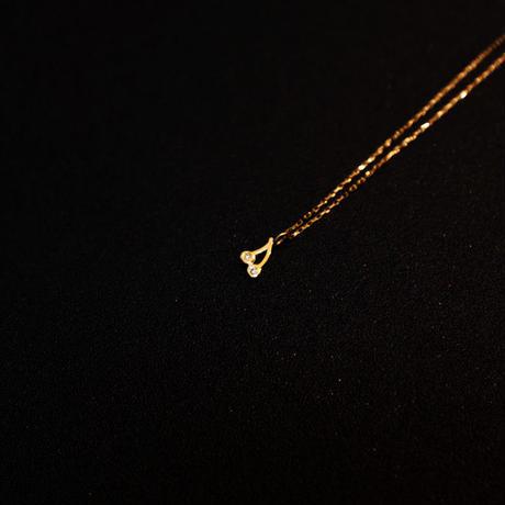 ゴールドネックレス チェリー K18 ダイヤ
