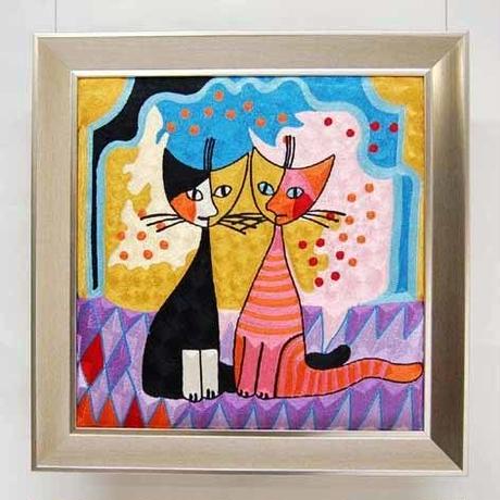 刺繍絵画(53×54) ロジーナ「ロマンスⅡ」 商品番号:is1087-rw-58