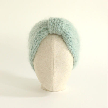 Mohair Knitted Hairband (Ice Green)