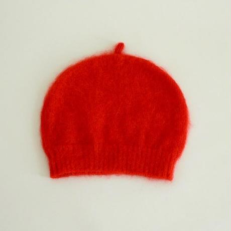 Mohair Shaggy Cap(Red)