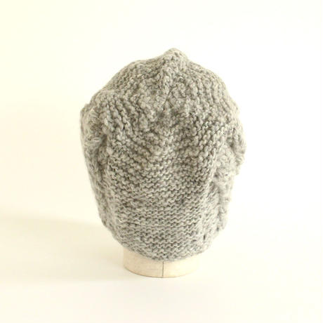 Cable Stitch Knit Cap (Gray)