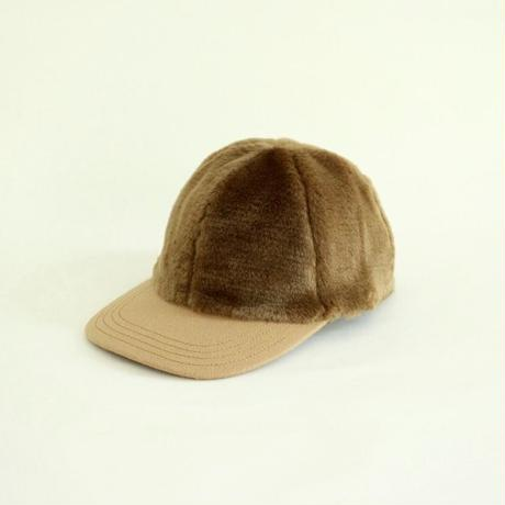 Fake Fur Cap(Brown)