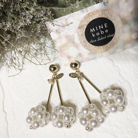 【チタン】pearl cherry drop bijou pierce