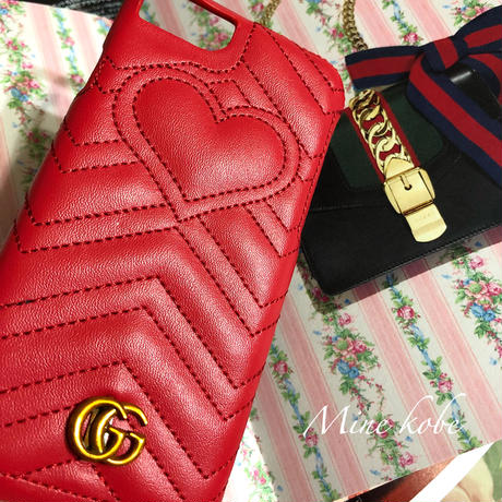 【8.8plus】GG heart leather iPhone case