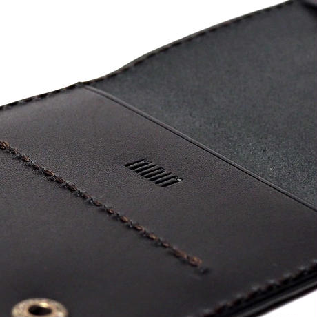 One Wallet  /  Charcoal  Black