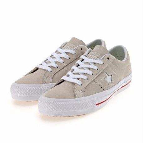 CONS One Star Pro Hairy Suede Egret/White/Red