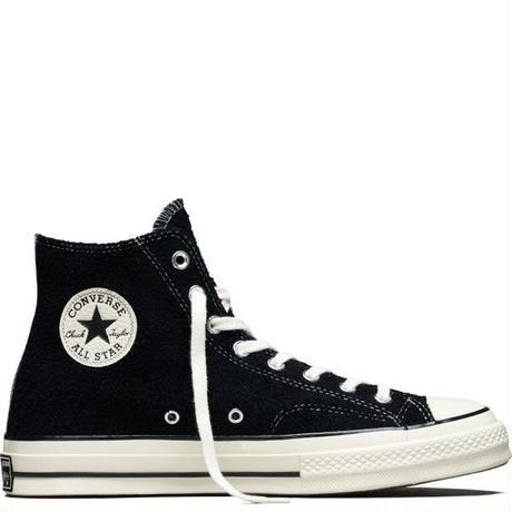 Chuck Taylor All Star 1970`s vintage suede BLACK EGRET / High