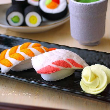 [型紙レシピ]フェルトのお寿司セット