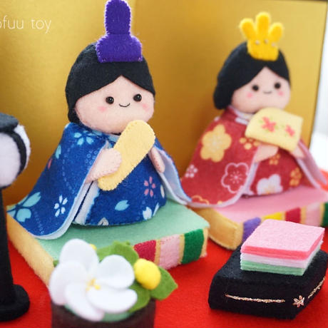 【型紙レシピ】フェルトの雛飾り