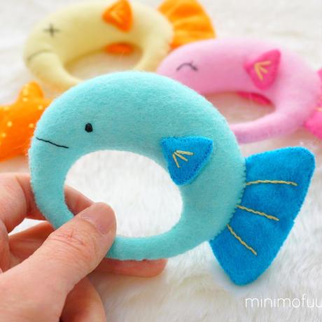 [型紙レシピ]赤ちゃん向けおもちゃセット