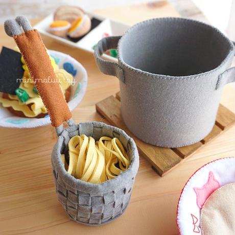 【型紙レシピ】フェルトのラーメンセット