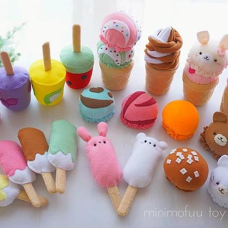 【型紙レシピ】アイスクリームセット