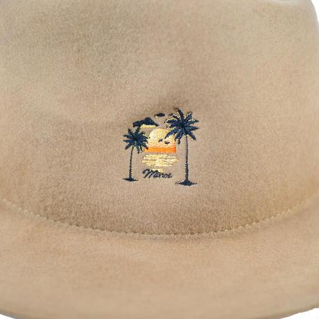 SUNSET FLAT FELT HAT