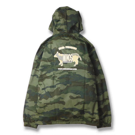 CAMO LOGO HOODED COACHES JACKET