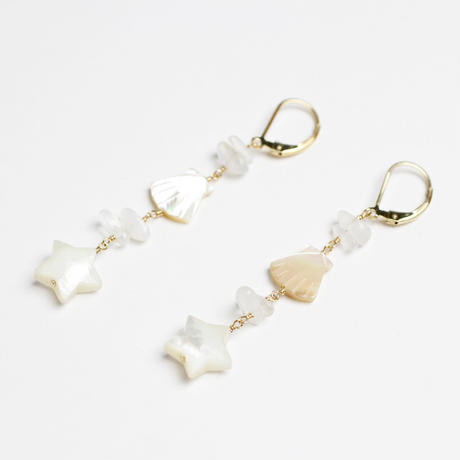 Star×Shell pierce / earring(mn-pi-027)