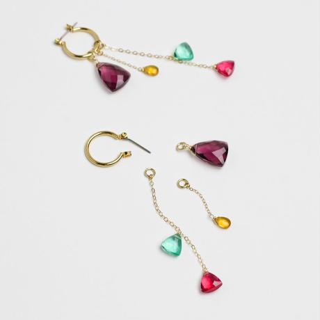 Multi Color Quartz Dress up pierce