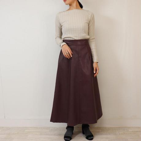 Abientot select! エコレザーフレアースカート S2028