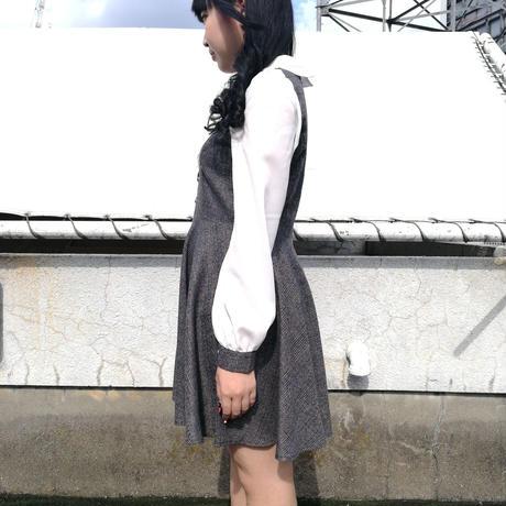 【10/中旬販売開始】クラシカルワンピース(グレー)