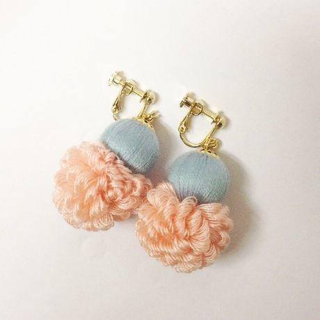 fluffy earrings