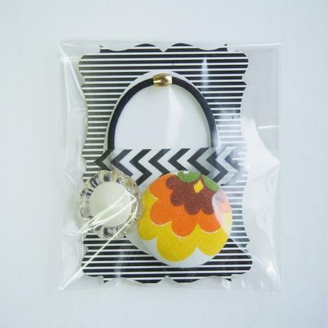 retro coverd button hair elastic(A)