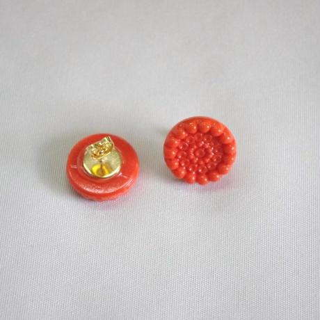 czecho vintage button pierced