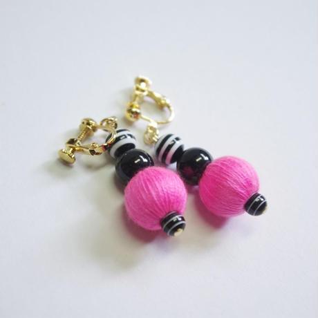 neon&stripe earrings