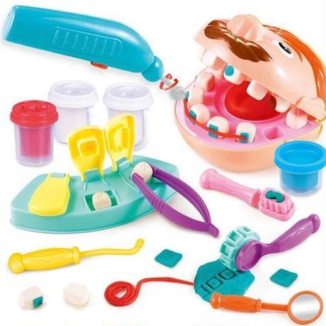 おもちゃ 歯医者 治療セット キット 粘土 医者 ままごと ごっこ 遊び 子供 ギフト プレゼント(kk05113)