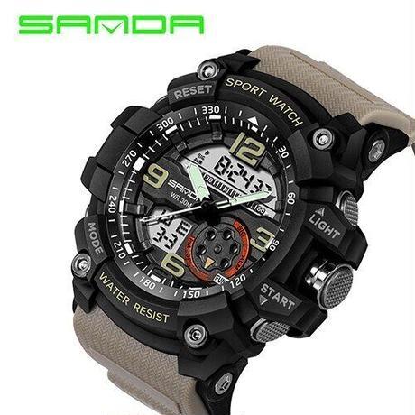 腕時計 メンズ S 海外 デジタル ミリタリー 防水 LED スポーツ アーミー 759 クオーツ (kk02291)