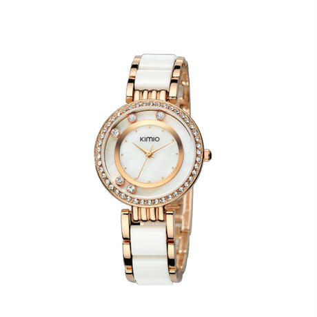 KIMIO レディース 腕時計 女性用 ラインストーン クォーツ 通学 通勤 カジュアル キラキラ(kk04700)
