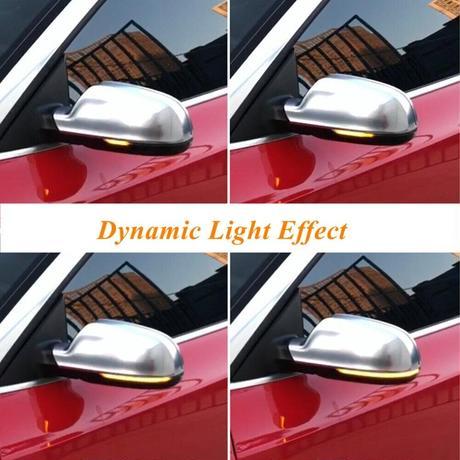 アウディ用 A3 S3 8P RS3 A4 S4 RS4 B8 8K(B8.5)LEDダイナミックターンシグナルウインカー シーケンシャル サイドミラー インジケーターライト(kk05652)