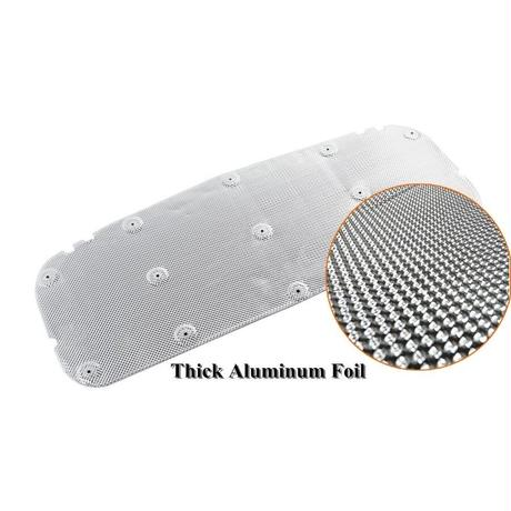 スズキジムニー JB64/JB74 用 SUZUKI JIMNY ボンネット裏 アルミニウム繊維 保護シート エンジンルーム 防音 断熱(kk05409)