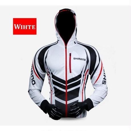 夏釣り 男性ジャケット 防水 速乾性コート シャツ ハイキング サイクリング 釣り服 (カラー:ホワイト【31】)(kk00936)