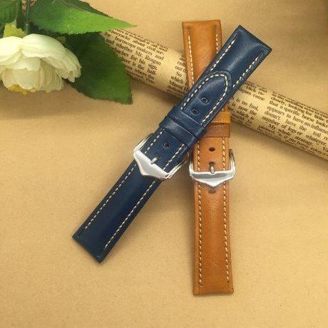 メンズ レディース 腕時計バンド 腕時計ストラップ 腕時計ベルト 交換用ベルト 18mm 20mm 21mm 22mm 女性用 男性用 男女兼用 本革 革製品 レザー 6色(kk03977)