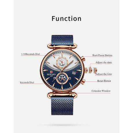 REWARD リワード メンズ 腕時計 ウォッチ クォーツ式 クロノグラフ 防水 カレンダー スポーツウォッチ 男性用 カジュアル ファッション ビジネス(kk04774)