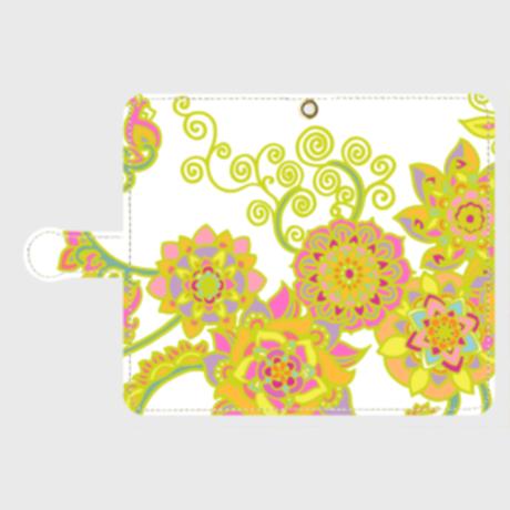 ECHARINIUM flowering yellow smart phone case