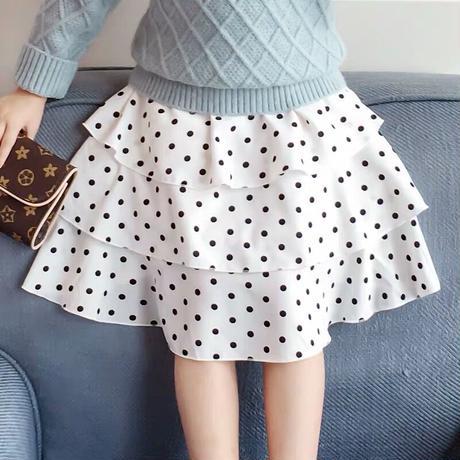 フリルドットスカート