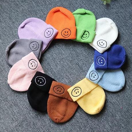 ニコちゃんニット帽