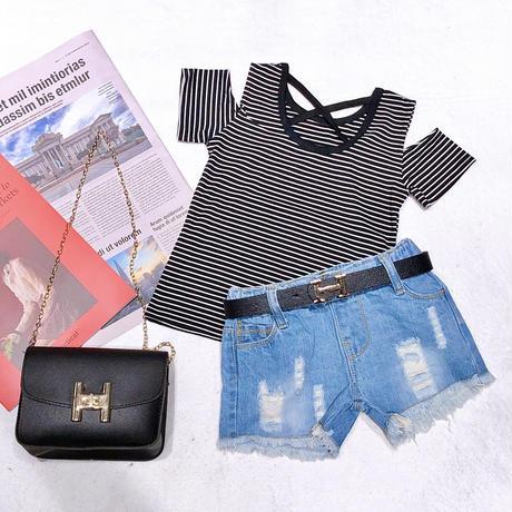 tops+pants+belt+bag 4点Set