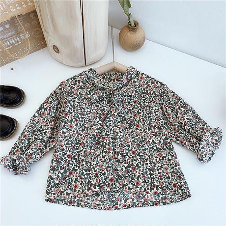 花柄ブラウス+ジャンパースカートSET