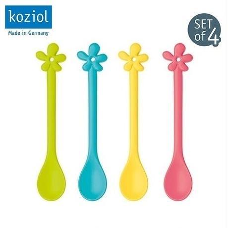 【koziol コジオル】HAPPY SPOONS フラワー、ハート スプーン4本セット ネコポス送料無料