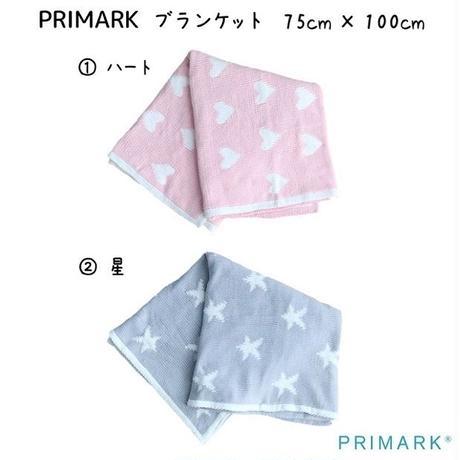 日本未入荷 【PRIMARK プライマーク】BABY ブランケット ハート柄 星柄