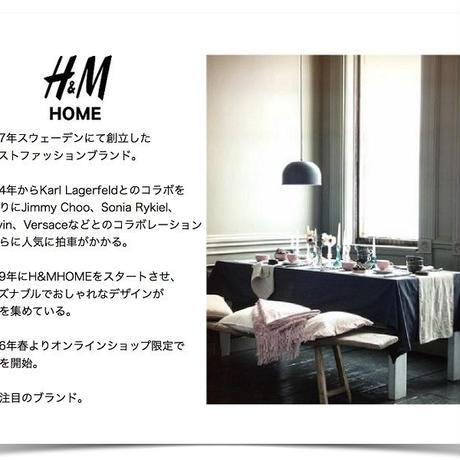 【H&MHOME】ボーダー バスマット ネイビー、グレー