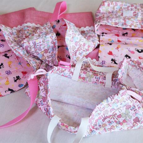おそろいセット女の子用・ファンシーリボン(ピンク)